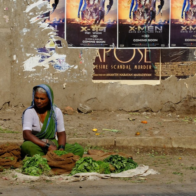 """Street Trader - India"" stock image"