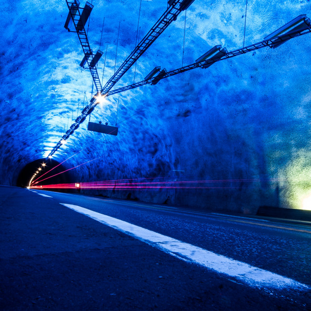 """Lærdal Tunnel"" stock image"