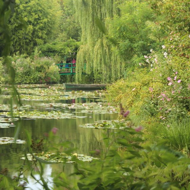 """""""Monet's Water Garden"""" stock image"""