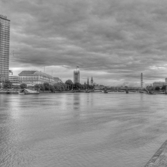 """""""Stormy over Millbank"""" stock image"""