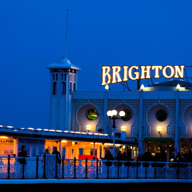 """Brighton Pier - evening"" stock image"