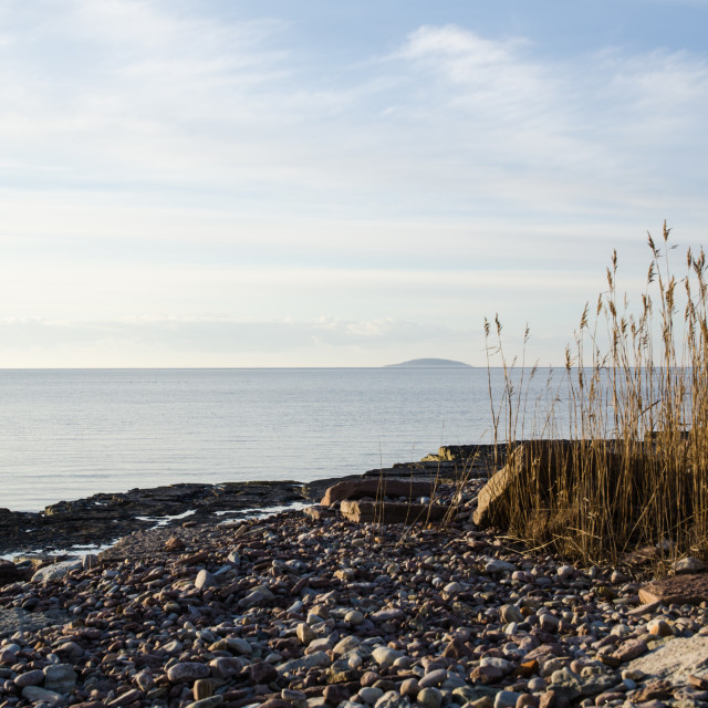 """Peaceful coastline"" stock image"