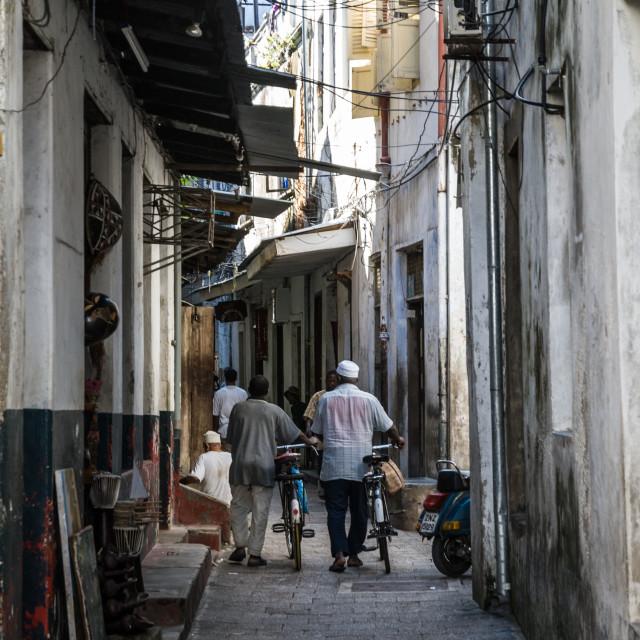 """Stone Town backstreet"" stock image"