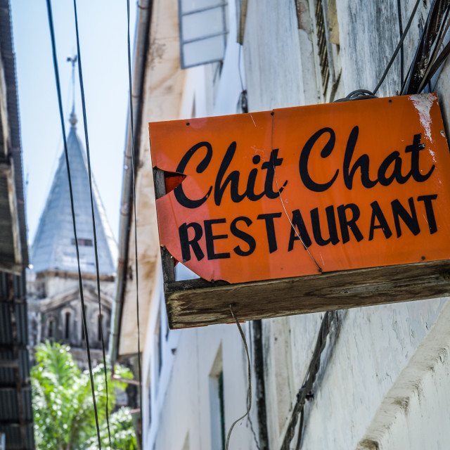 """Chit Chat Restaurant"" stock image"