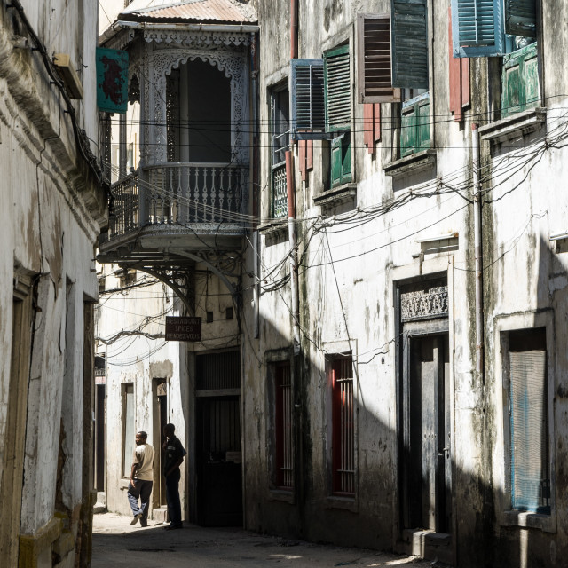 """Stone Town backstreet"" stock image"
