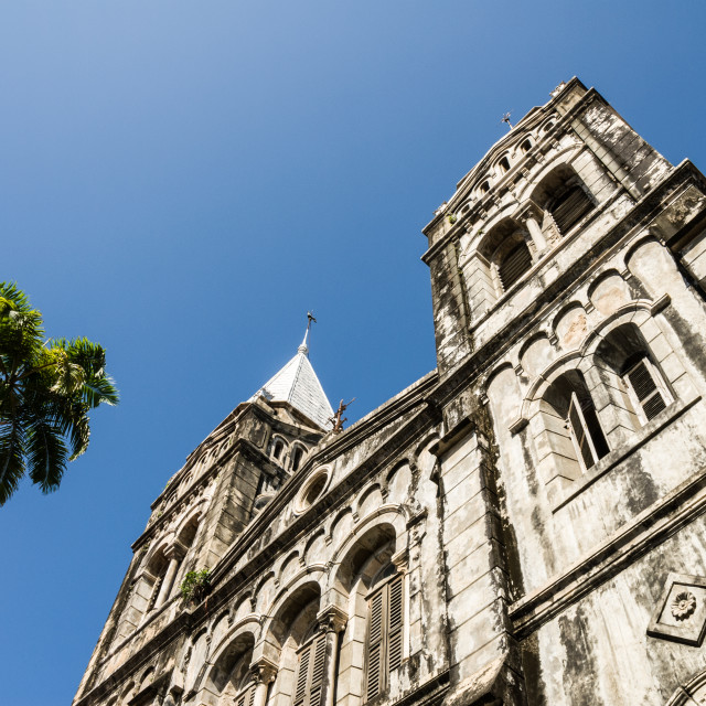 """Stone Town catholic cathedral,"" stock image"