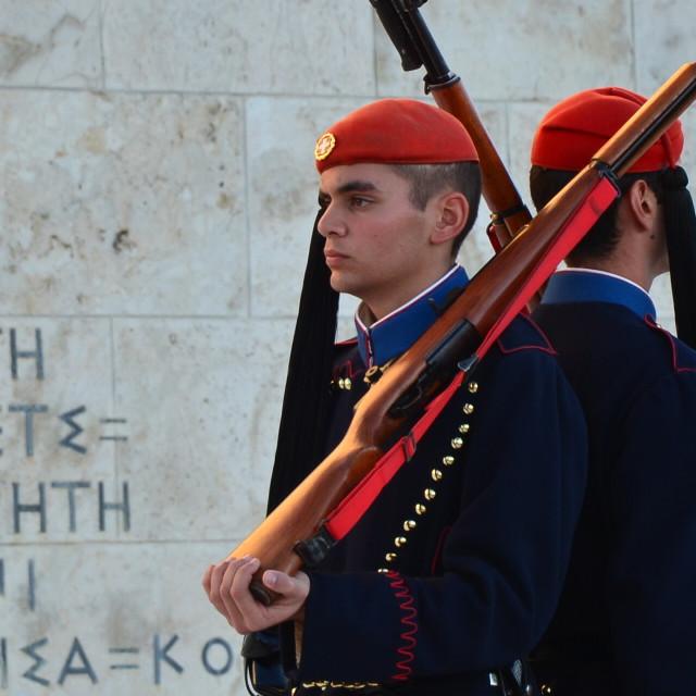 """Greek Soldiers"" stock image"