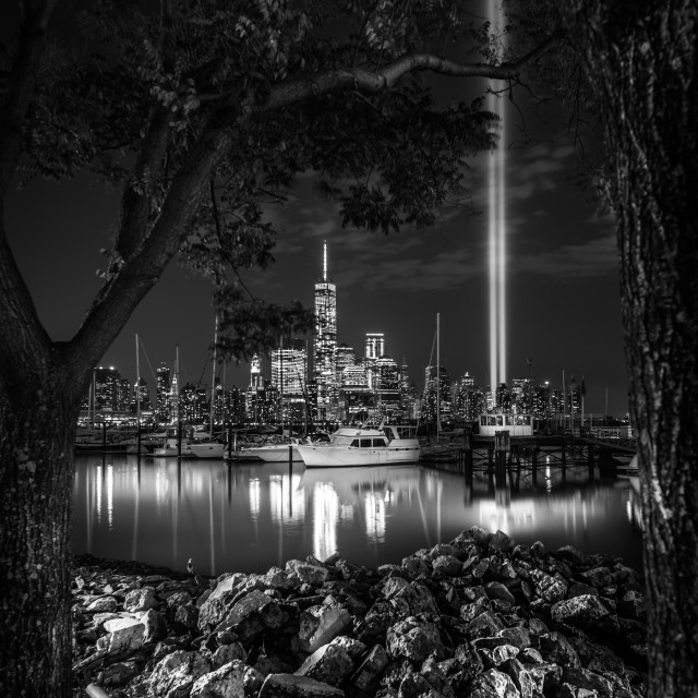 """Tribute in Lights NYC"" stock image"
