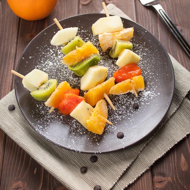 """""""Fruit skewers"""" stock image"""