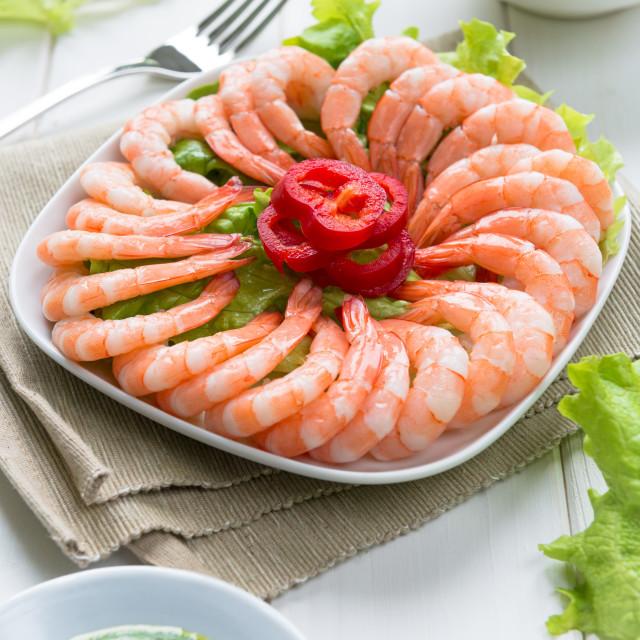 """Prawn salad"" stock image"