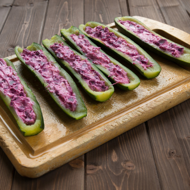 """Filled zucchini"" stock image"