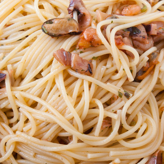 """Spaghetti with clams"" stock image"