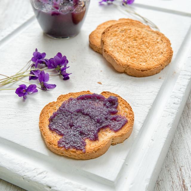 """""""Violet flower jam"""" stock image"""