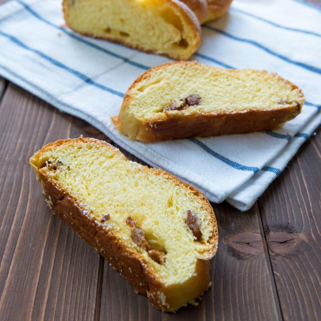 """""""Sweet raisin bread"""" stock image"""