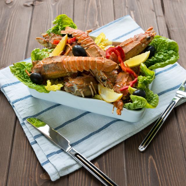 """Lobster salad"" stock image"