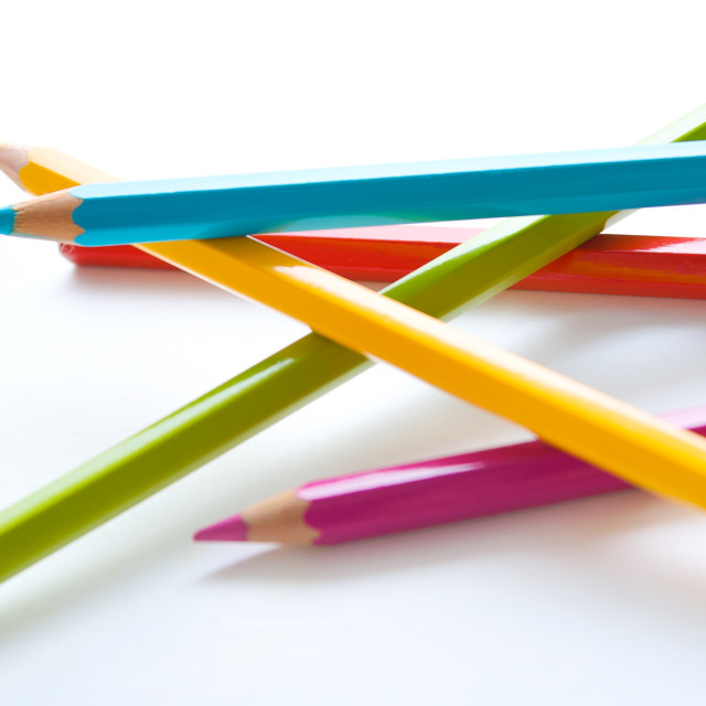 """""""Colorful pencils"""" stock image"""