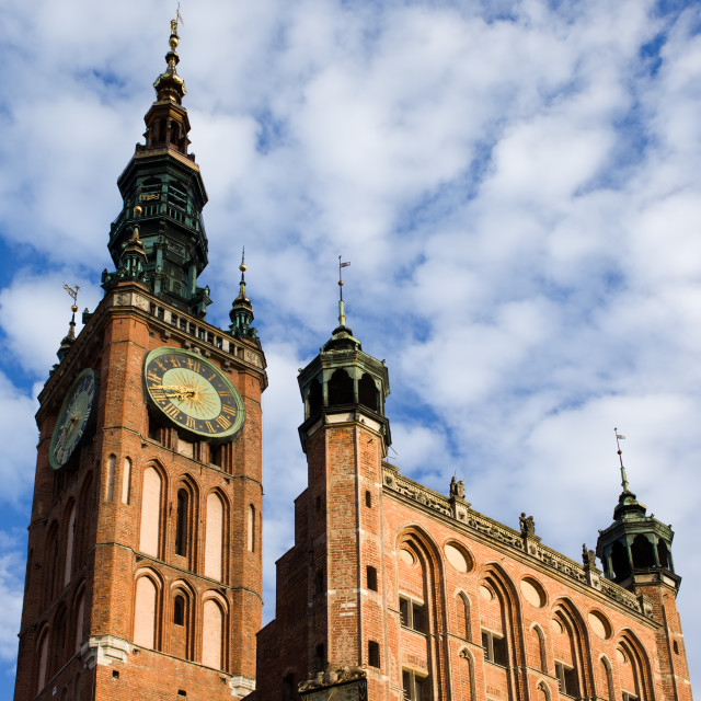 """Main Town Hall in Gdansk"" stock image"