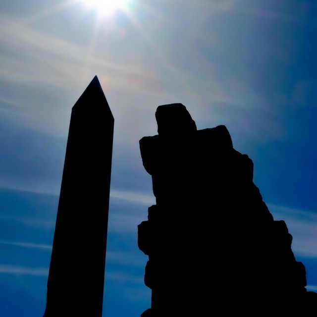 """Egyptian Obelisk in Karnak"" stock image"