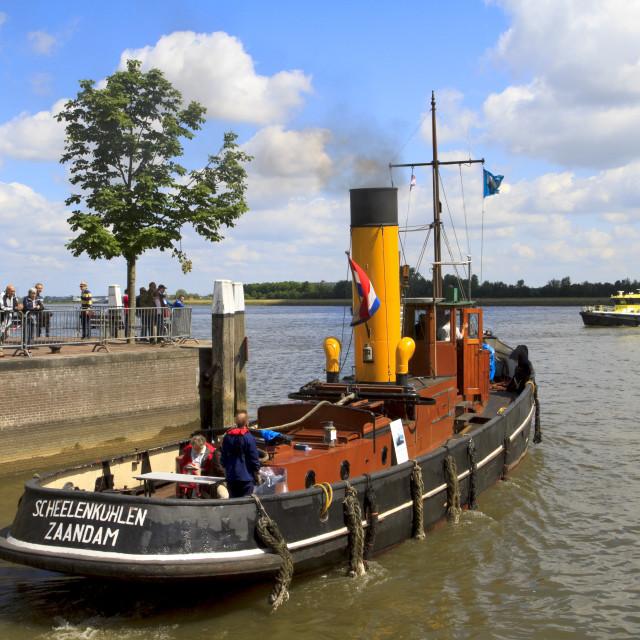 """""""Steam boat Scheelenkuhlen"""" stock image"""