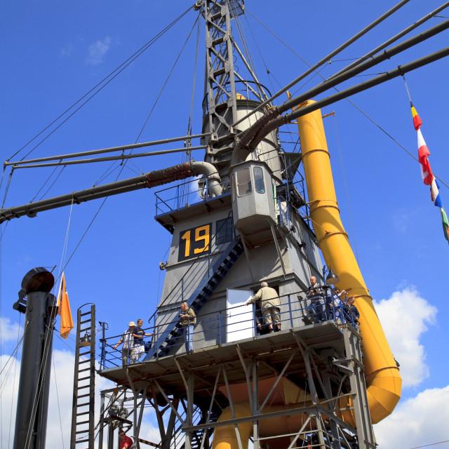 """Huge steam crane"" stock image"