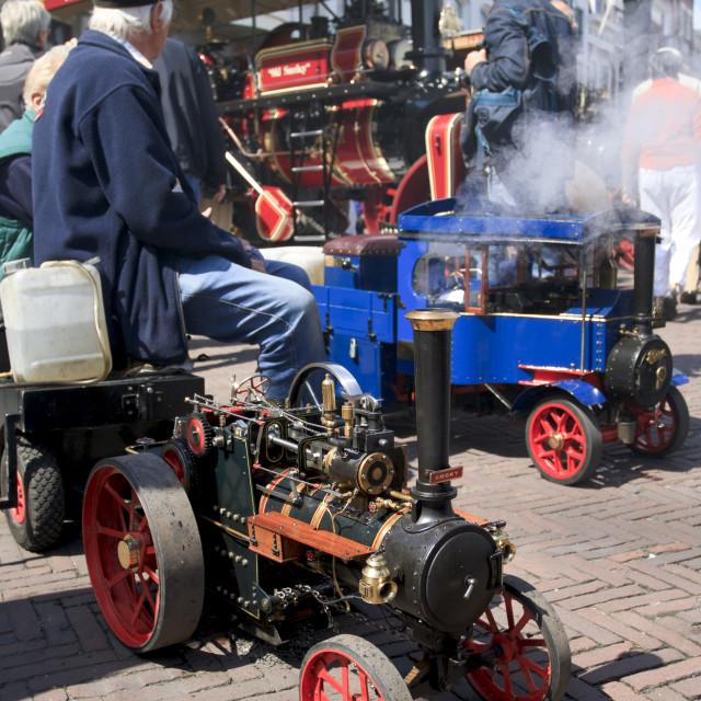 """Miniature steam locomotive"" stock image"
