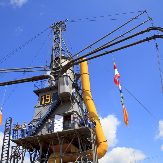 """""""Gigantic steam crane"""" stock image"""
