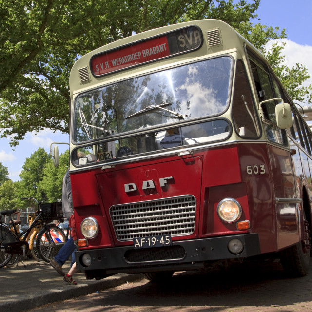 """""""Old timer bus waiting"""" stock image"""