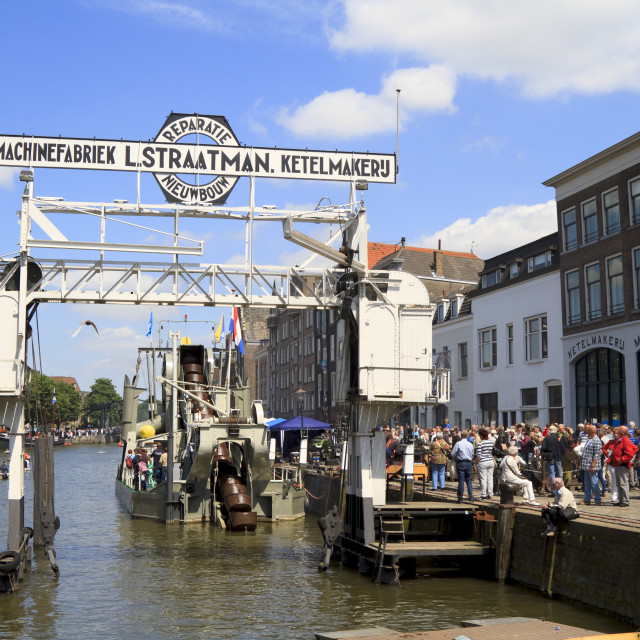 """""""Visitors on Wolwevershaven"""" stock image"""