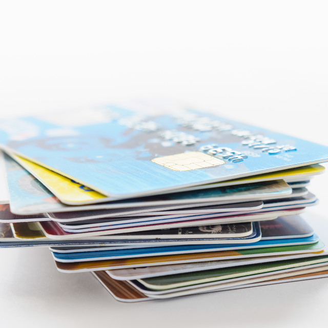 """""""Many Credit Cards"""" stock image"""