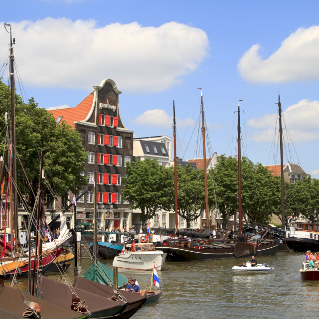 """""""Wolwevershaven harbor"""" stock image"""