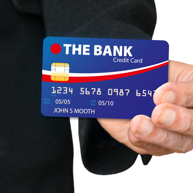 """Holding a Credit Card"" stock image"