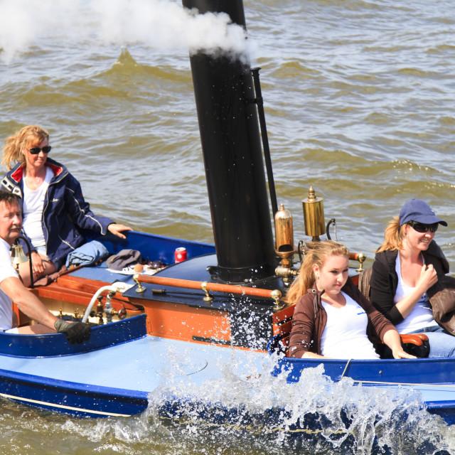 """Steam boat ride"" stock image"