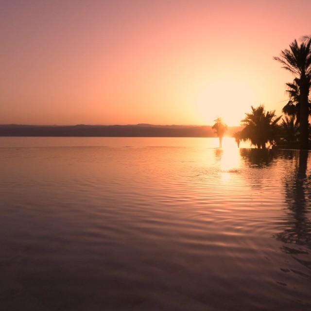 """Dead Sea sunset"" stock image"