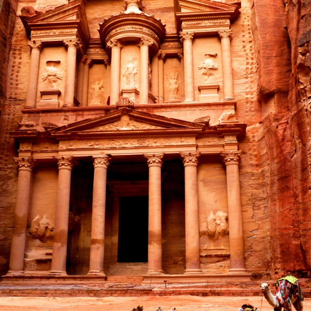 """Treasury at dawn, Petra"" stock image"