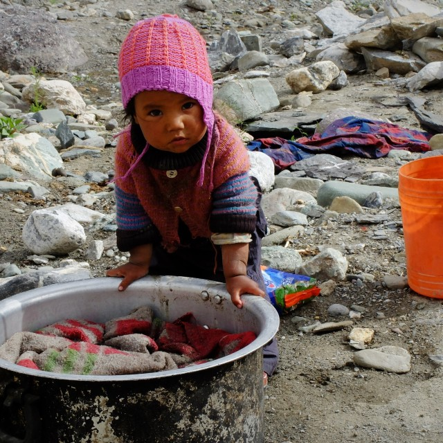 """Local Ladakhi child"" stock image"