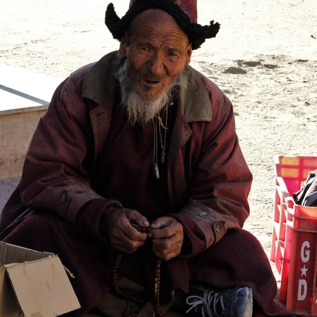 """Street Trader in Leh, Ledakh"" stock image"