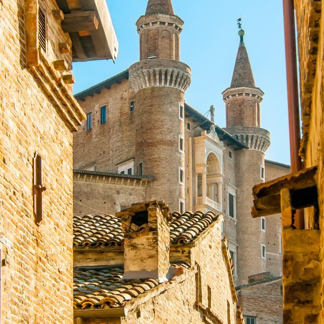 """""""View of Urbino"""" stock image"""