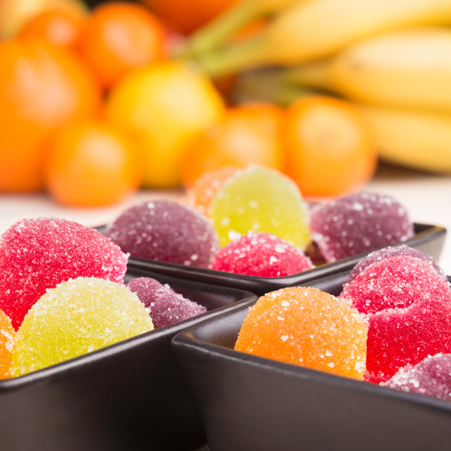 """""""Fruit Jelly and Fruit"""" stock image"""