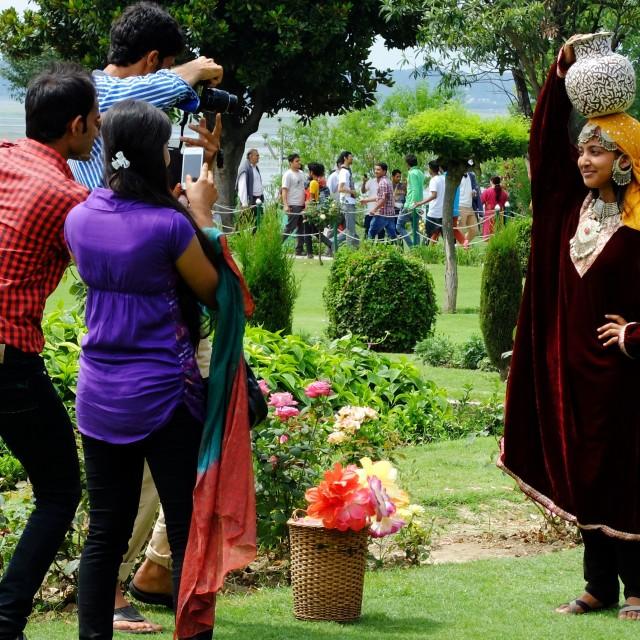 """Mughal gardens Srinigar"" stock image"