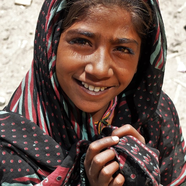 """Girl Begging - Leh - Ladakh"" stock image"