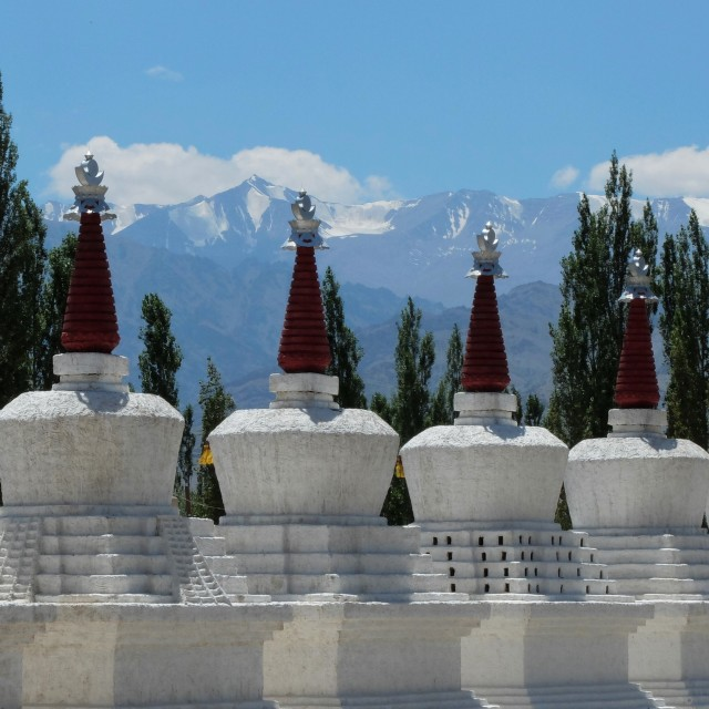 """Stupas -Leh - Ledakh"" stock image"