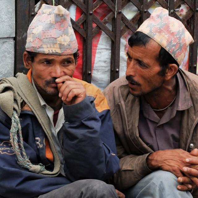 """Nepali porters"" stock image"