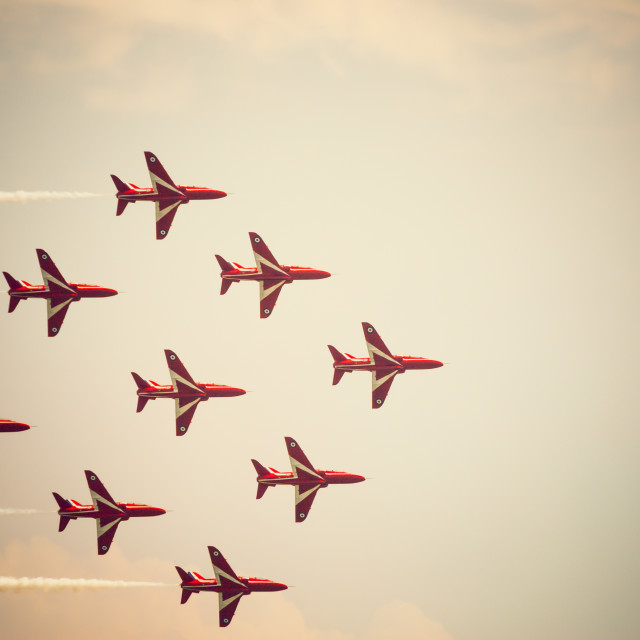 """Red Arrows Diamond Formation"" stock image"