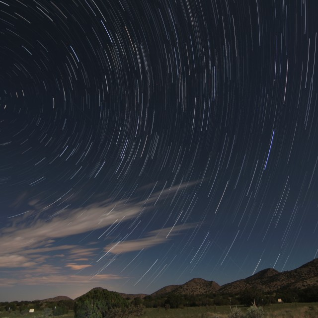 """Night sky in New Mexico"" stock image"