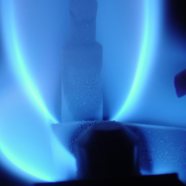 """""""Blue flame"""" stock image"""