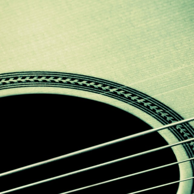 """Acoustic guitar"" stock image"