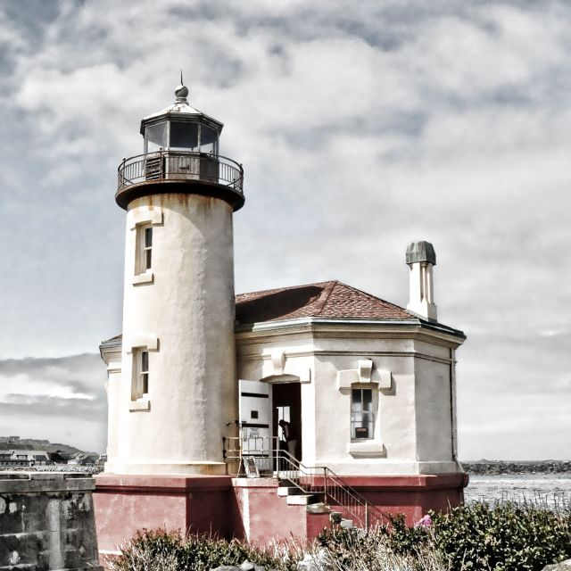 """Coquille River Light"" stock image"