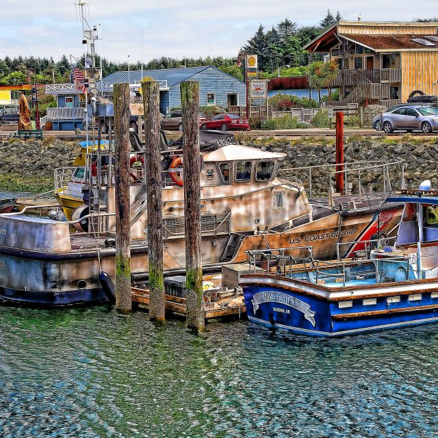 """Port Of Bandon Oregon"" stock image"