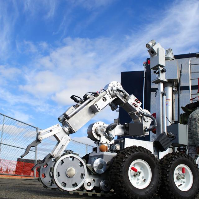 """Bomb Squad Robot"" stock image"