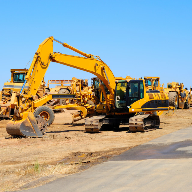 """Excavator And Heavy Equipment"" stock image"